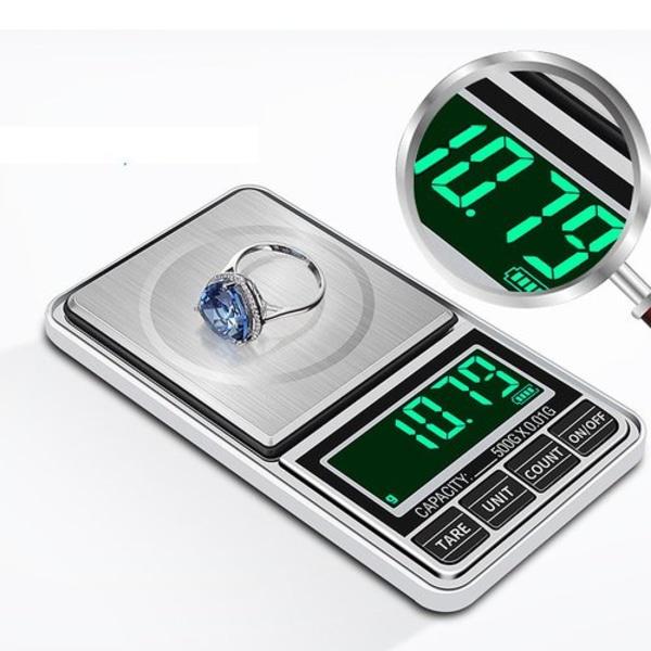 Pocketvåg - Fickvåg Deluxe 300g/0.01g - Batteri Ingår + USB