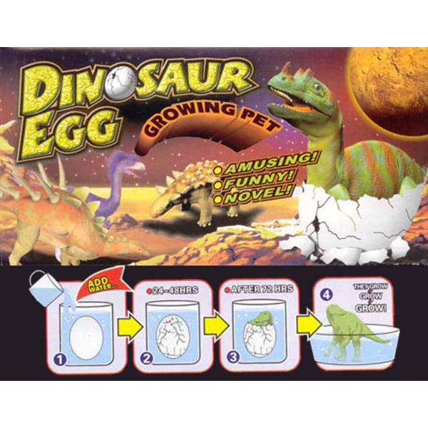 3 st/förp Växande Dinosaurie i ägg