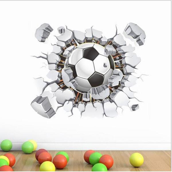 3D Fotboll vinyl vägg klistermärken