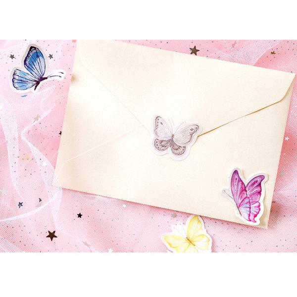 45 st/förp färgglada fjärilar klistermärken