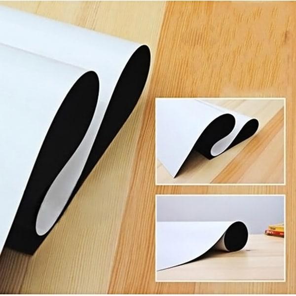 Flexibel A4 magnetisk whiteboard till kylskåp vit