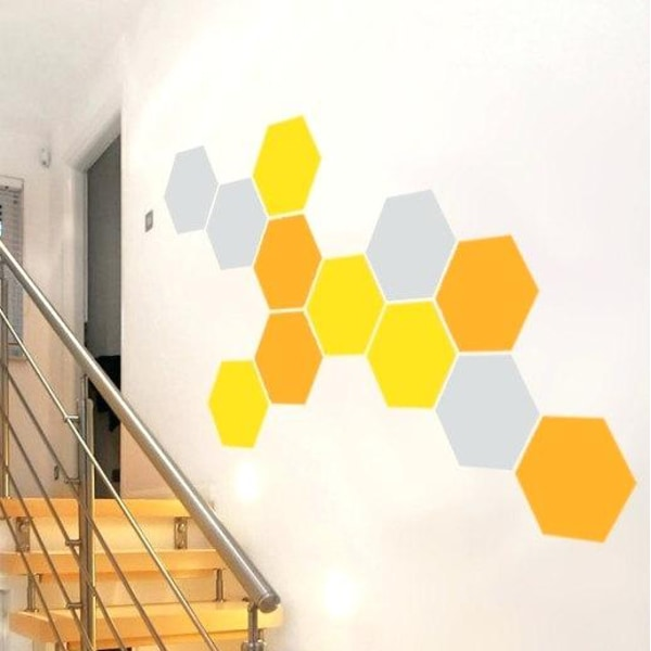 Hexagon vinyl vägg klistermärke 20st/förp 11 färger lila