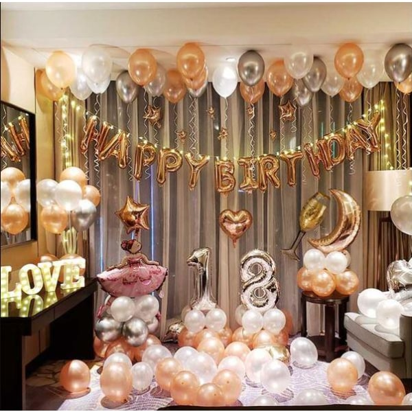 100-pack dubbelhäftande lappar för ballonger