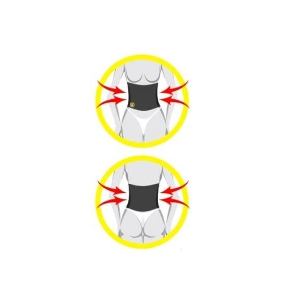 Waist Shaper Stretch korsett| Olika storlekar svart S