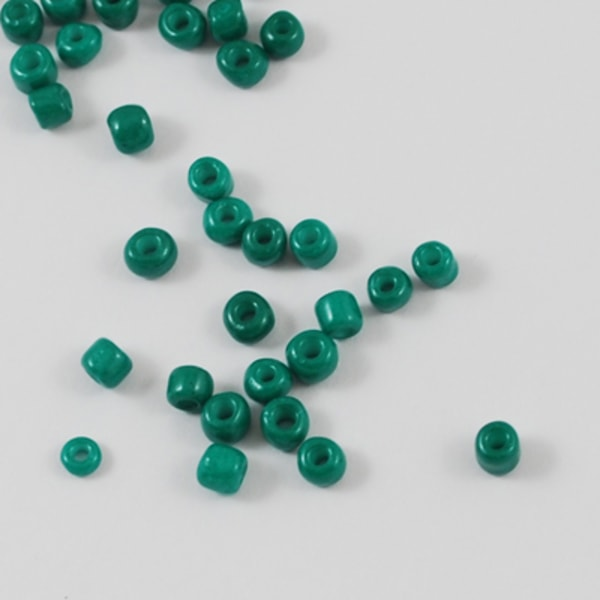 30 gram cirka 800 stk Blågrønne perler Frøperler 6/0