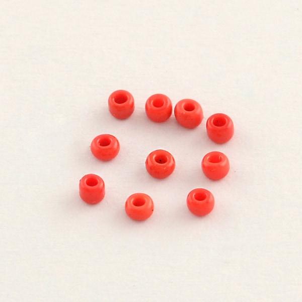75 grammaa noin 800 kpl Läpinäkymättömät syvänpunaiset lasihelmet Siemenhelmet 6/0