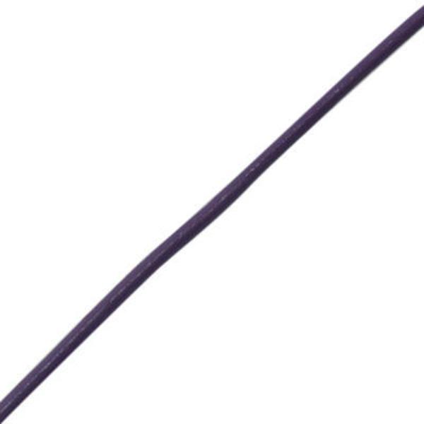 Läderrem Lila 1.5 mm 2 meter Läder rem