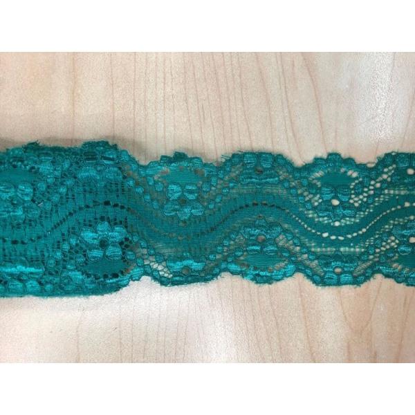 9 m. Joustava pehmeä pitsi 55 mm turkoosi Turquoise