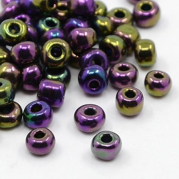 75 grammaa noin 800 kpl Iris -lasihelmiä 6/0 Siemenhelmiä