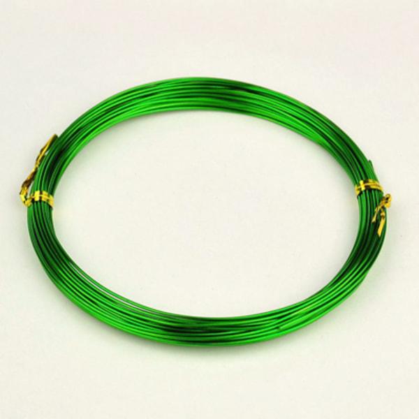 Aluminium Wire Grön 1mm 10meter