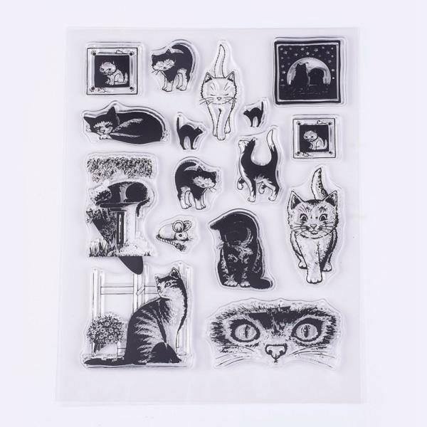 # 27 Kirkkaat postimerkit kissoille