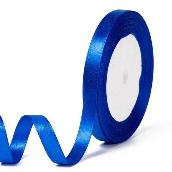 Satiininauha 22 metriä 10 mm sininen rulla