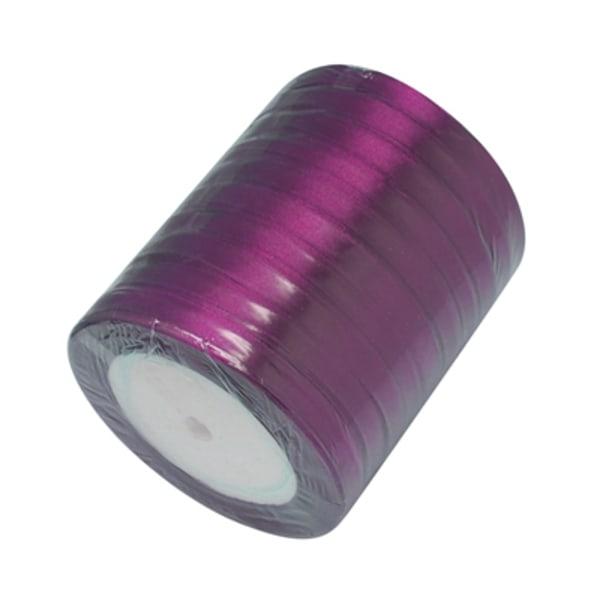 Satinbånd 22 meter 6 mm Violet rulle