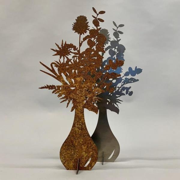 Blombukett - SPIRA Dekoration 47 cm Vit