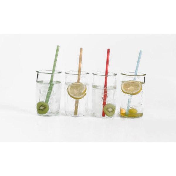 Dricksglas Jars med sugrör 4-pack MultiColor 4 pack