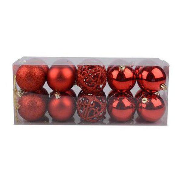 Julgranskulor  20 pack Röd