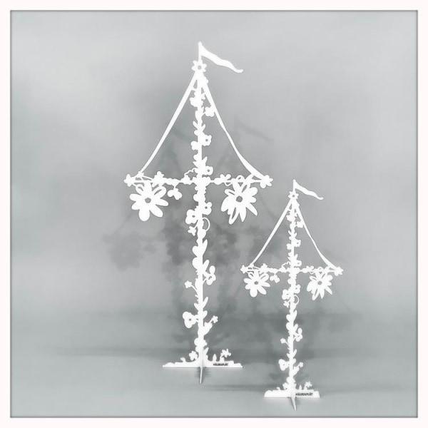 Midsommarstång Miss Sommar Dekoration  White Stor 60cm