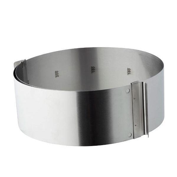 Tårtring / Kakform justerbar 16-32 cm Funktion  Silver