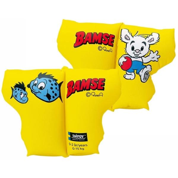 Swimpy Bamse - Armpuffar, Armringar 0-2 år Gul