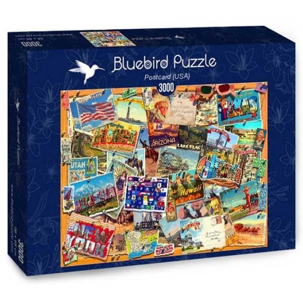 Bluebird Pussel - Vykort, USA 3000 bitar multifärg