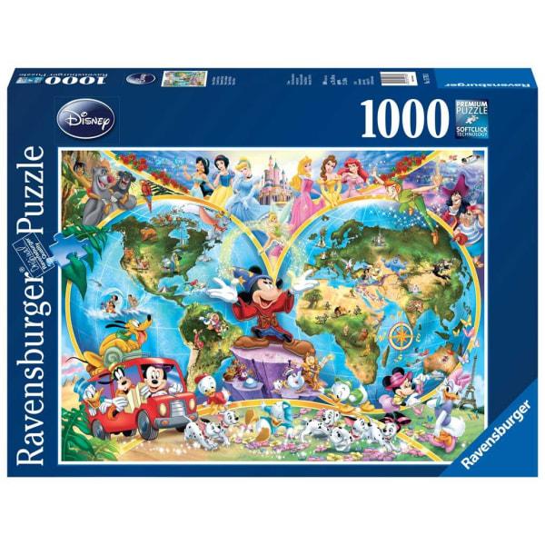 Ravensburger Pussel - Disneys världsatlas, 1000 bitar multifärg