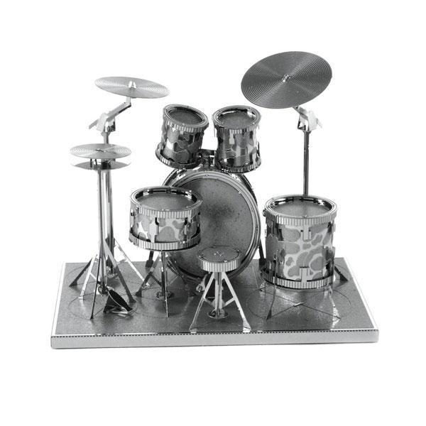 Metal Earth Musik Trumset Modellbyggsats i metall Silver