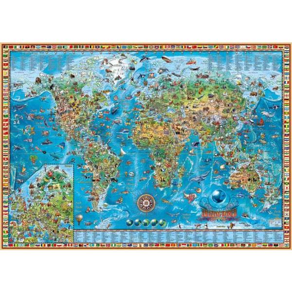 Heye Pussel - Map Art, En fantastisk Värld 2000 Bitar  multifärg