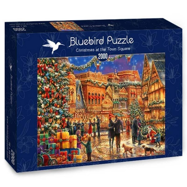 Bluebird Pussel - Jul på torget 2000 bitar multifärg