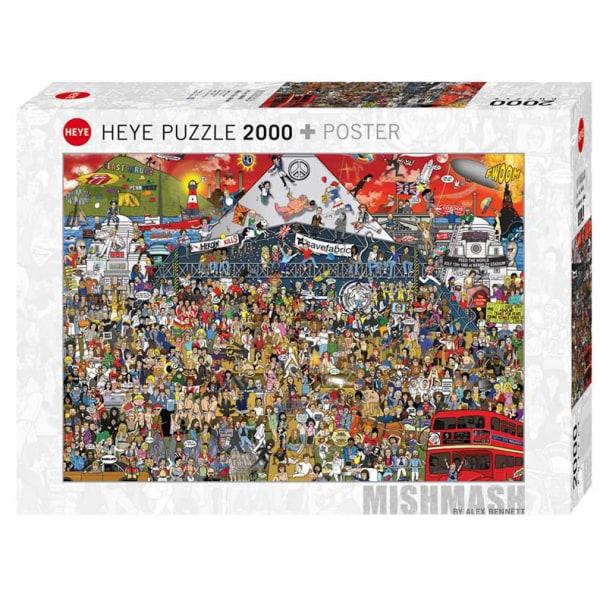 Heye Pussel - Cartoon, Brittisk Musik Historia 2000 Bitar  multifärg