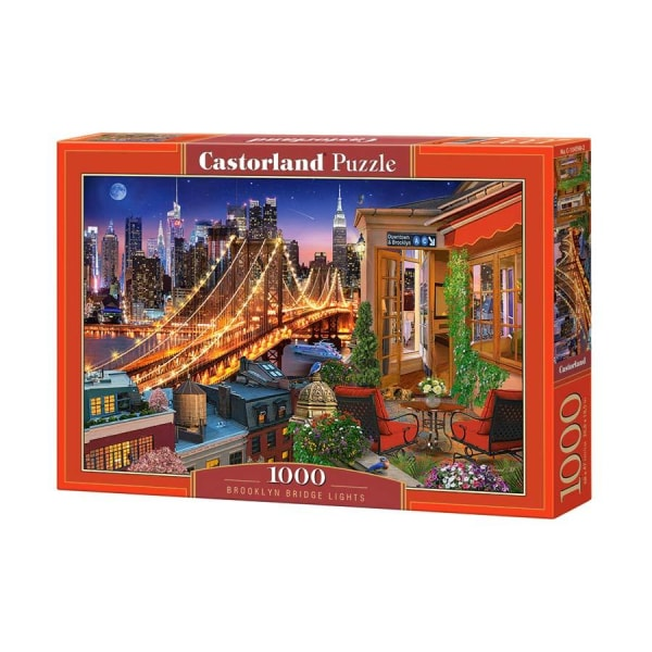 Castorland Pussel - Brooklyn Bridge's belysning 1000 Bitar multifärg