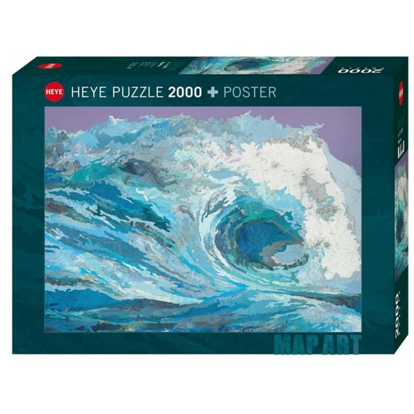 Heye Pussel - Map Art, Våg 2000 Bitar multifärg