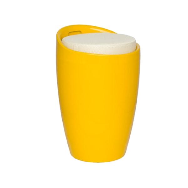 158 Förvaringspall gul/creme