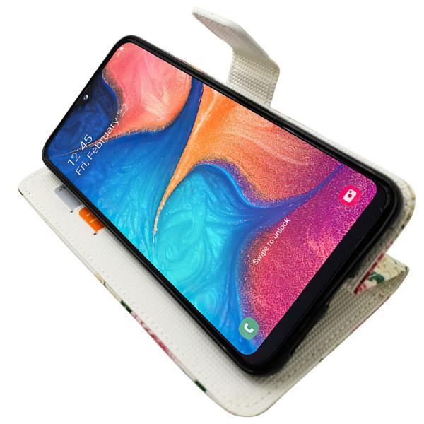 Samsung Galaxy A20e - Läderfodral / Skydd Blå