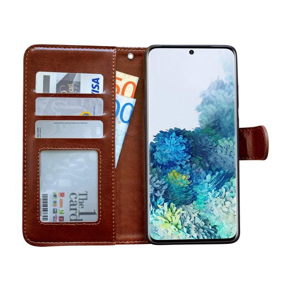 Samsung Galaxy S20 Plus - Läderfodral / Skydd Vit