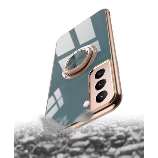 ║Samsung Galaxy S21 Plus║ Lyxigt Stilrent skal med ring ställ-fu Black one size