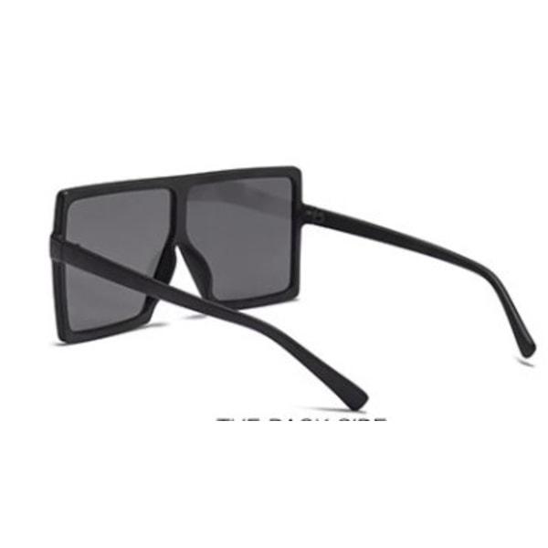 Fyrkantiga oversized solglasgon UV400 Kim Svart one size
