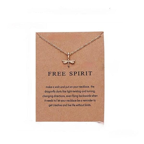 Free spirit - halsband 18K guldpläterat gåva trollslända Guld one size