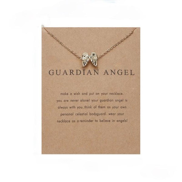Guardian angel - halsband 18K guldpläterat gåva ängel vingar Guld one size