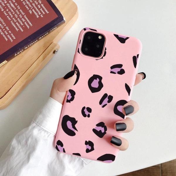 iPhone 12 & 12 Pro Skal leopardmönster 3 färger gul röd rosa Yellow one size