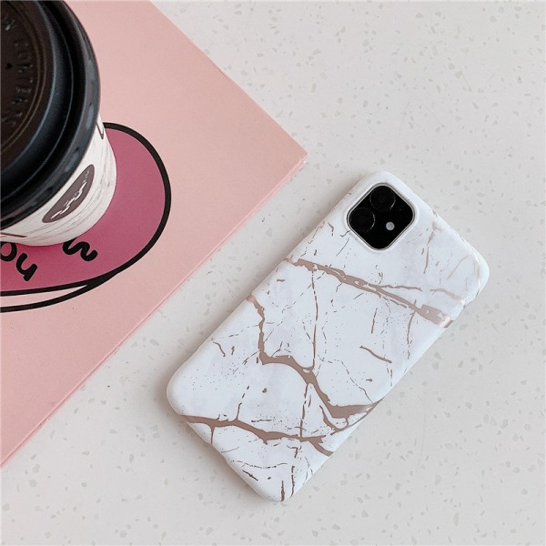 Mobilskal till iPhone11 med marmormönster! Vit one size