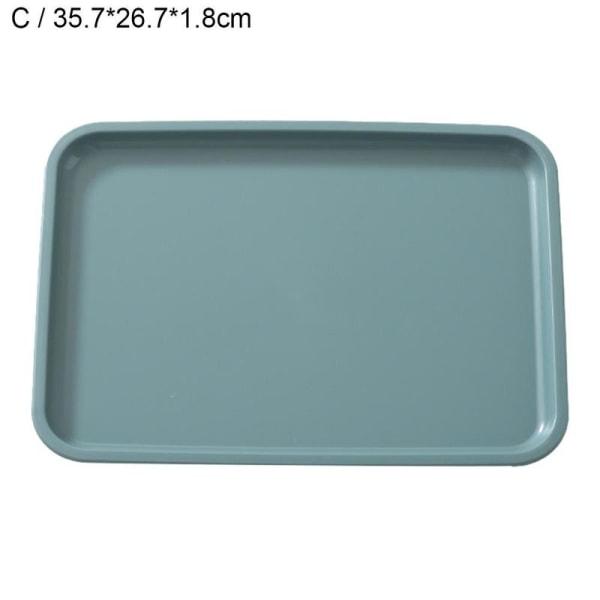 1 * Rektangulär plastmatsal för servering av te med kaffe C green 35.7*26.7*1.8cm