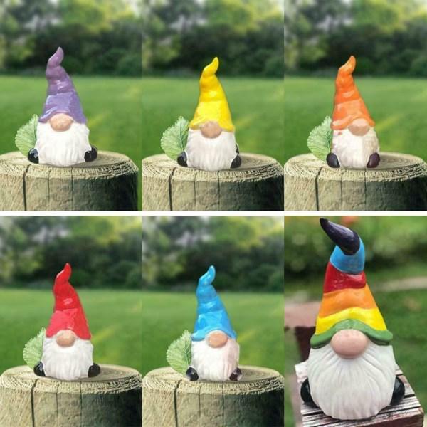 1st Gnome On A Rock Garden Path Solar Light Ornament Decor