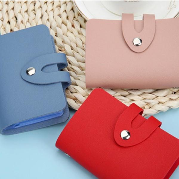 24Card Slot Portable Leather Credit Card Holder Wallet Organizer F brown 24 Bits