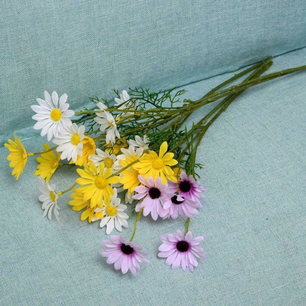 5st Daisy konstgjorda silke falska blommor hembord dekor dekor