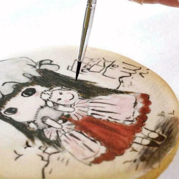 7st målarborstar Cake Decorating ART Fondant Brushes Tool