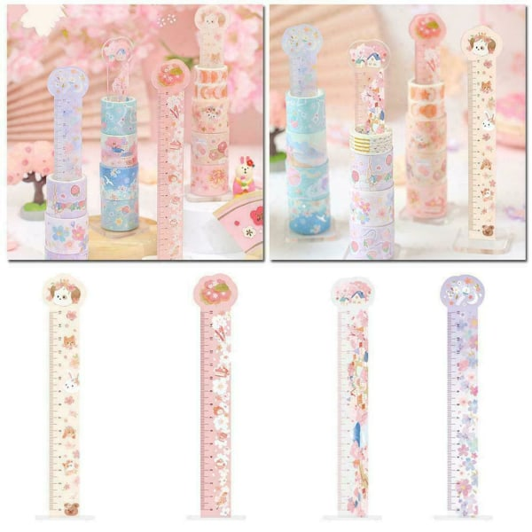 CuteAnimal Cat Ruler Stationery Kids Party Loot Gift Filler Bag