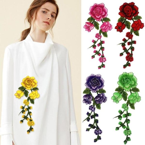 Broderipatch Rose Flower Collar Neckline Sewing Applique DIY
