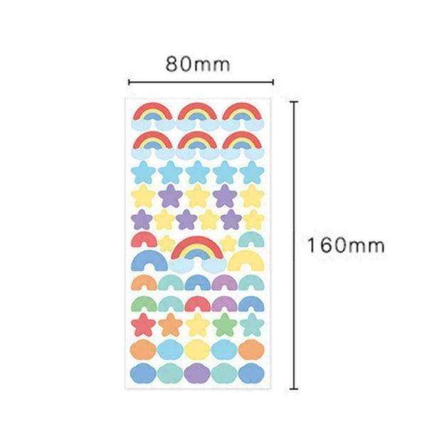 Härliga PVC-klistermärken Glittrande Scrapbooking-presentkort