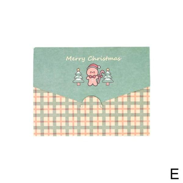 Hälsningskort för glad julpapperkuvert