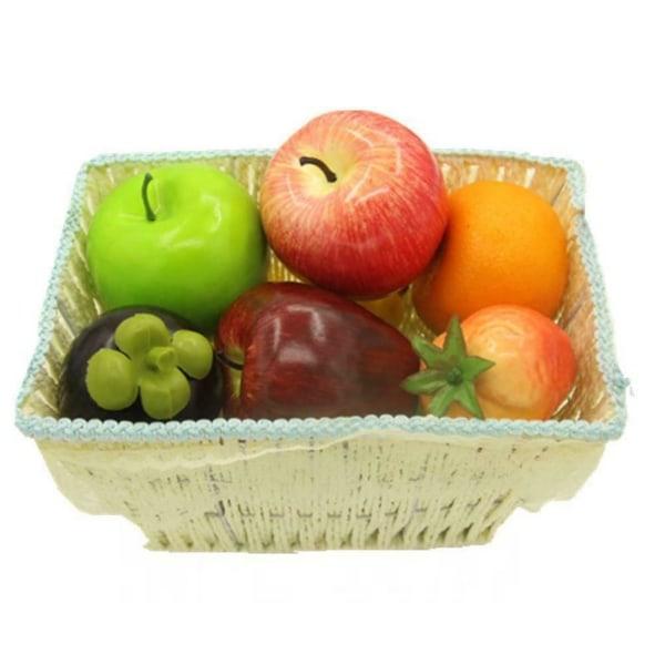 Plast äpple orange päron citron simulering konstgjord dekor